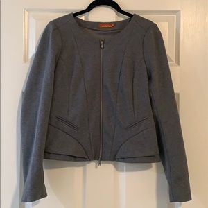 Ambition Grey Peplum Blazer (Size M)